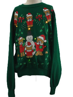1980's Unisex/Childs Lightup Ugly Christmas Sweatshirt