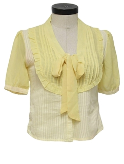 1960's Womens/Girls Frilly Shirt