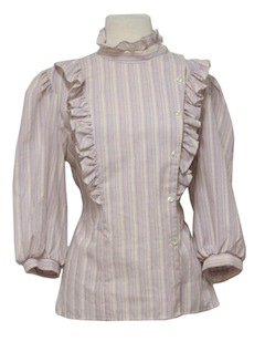 1970's Womens Frilly Ruffle Shirt