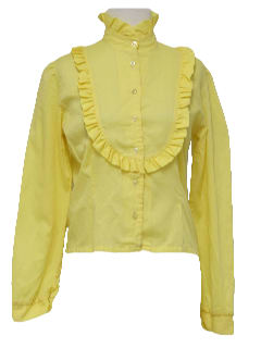 1970's Womens Ruffled Prairie Shirt