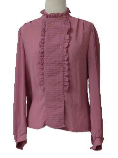 1970's Womens Mod Frilly Ruffle Shirt