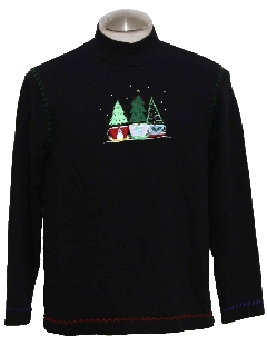 1980's Unisex Ugly Christmas Sweater Shirt to wear under your Vest