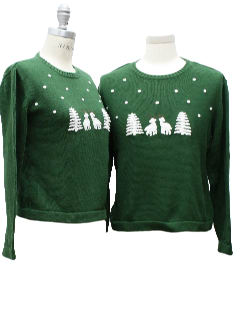 1980's Matching Pair of Womens Ugly Christmas Sweaters