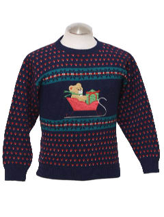 1980's Womens Vintage Bear-ific Ugly Christmas Sweater