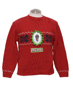1980's Unisex Ladies or Boys Ugly Christmas Krampus Sweater