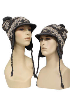 b01fbfc8b4456 1990 s Unisex Accessories - Ugly Christmas Snowflake Hipster Ear Flap Knit  Hat