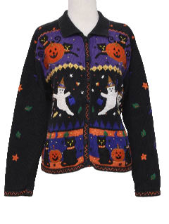 1990's Womens Cheesy Ugly Halloween Sweater