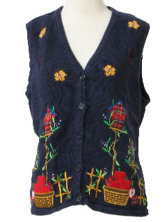 1990's Unisex Cheesy Ugly Kitschy Sweater Vest