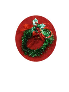 1990's Unisex Accessories - Jewelry Tinsel Ugly Christmas Wreath Pin