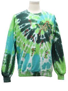 1980's Unisex Tie Dyed Ugly Christmas Sweatshirt