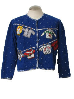 1980's Womens Ugly Christmas Sweater Sweater