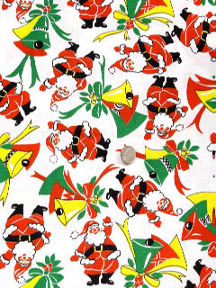 1960's Unisex Accessories - Ugly Christmas Fabric