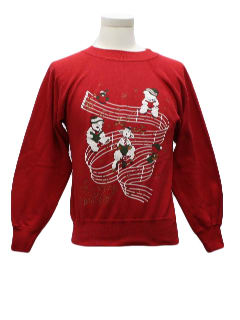 1980's Womens/Girls Ugly Christmas Sweatshirt