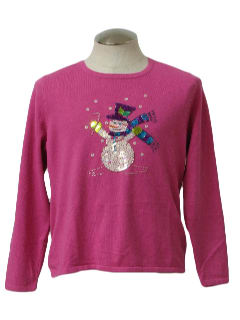 1980's Womens Ugly Christmas Sweater Shirt