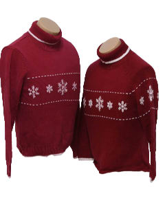 1980's Unisex Pair of Ugly Christmas Sweaters