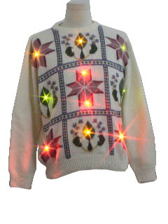 1980's Unisex Ugly Lightup Christmas Sweater