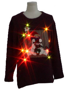 1990's Unisex Ugly Lightup Christmas Sweater