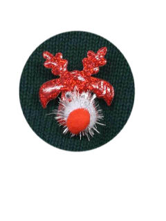 1990's Unisex Accessories - Jewelry Ugly Christmas Reindeer Pin