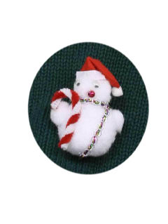 1990's Unisex Accessories - Jewelry Ugly Christmas Snowman Pin