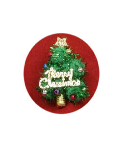 1990's Unisex Accessories - Jewelry Ugly Christmas Tree Pin