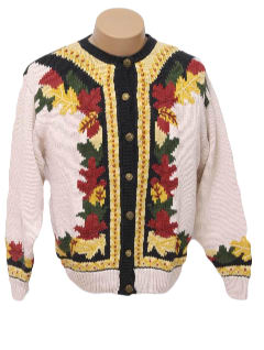 1980's Womens Ugly Kitsch Fall Sweater