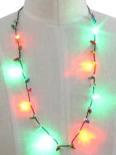 1990's Unisex Accessories Lightup Necklace to Wear with Your Ugly Christmas Sweater