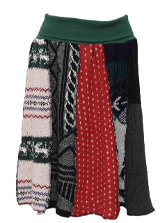 1980's Womens Ugly Christmas Sweater Skirt