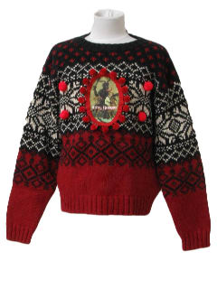 1980's Womens/Girls Ugly Krampus Christmas Sweater