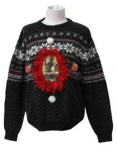 1980's Unisex/Childrens Ugly Krampus Christmas Sweater