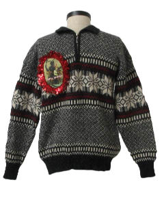 1980's Womens Ugly Krampus Christmas Sweater