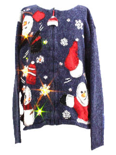 1980's Unisex/Childs Lightup Ugly Christmas Sweater