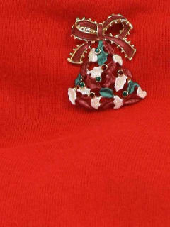 1980's Unisex Accessories - Jewelry Ugly Christmas Pin to Wear With Your Ugly Christmas Sweater