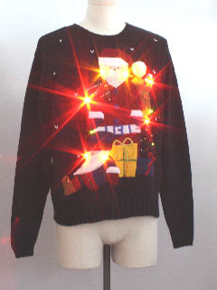 1980's Unisex Ugly Christmas Lightup Sweater