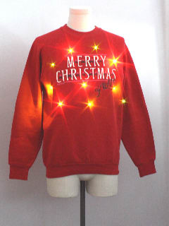 1980's Unisex Ugly Christmas Lightup Sweatshirt