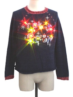 1980's Womens Ugly Christmas Lightup Sweater