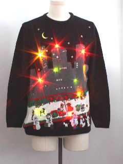 1990's Unisex Ugly Christmas Lightup Sweater
