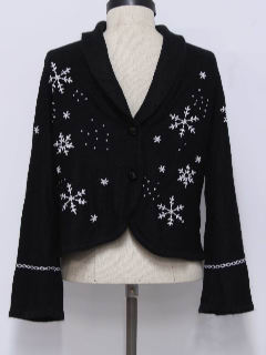 1980's Womens Bolero Style Ugly Christmas Sweater