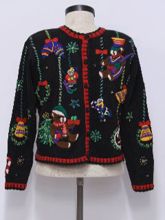1980's Womens Bear-ific Ugly Christmas Sweater