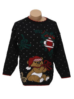1980's Unisex Bear-ific Ugly Christmas Sweater