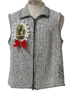 1980's Unisex Ugly Christmas Krampus Sweater Vest