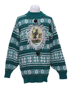 1980's Womens/Girls Ugly Christmas Krampus Sweater