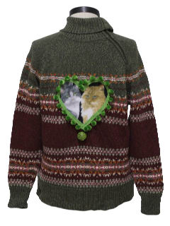 1980's Womens Ugly Catmus Christmas Sweater