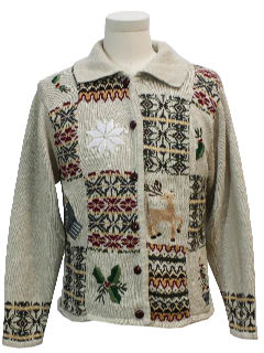1990's Womens Country Kitsch Ugly Christmas Sweater