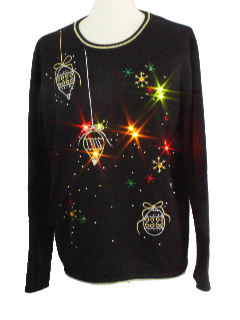 1980's Unisex Light up Ugly Christmas Sweater