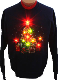 1990's Unisex Ugly Lightup Christmas Sweatshirt