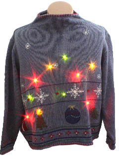 1990's Womens Ugly Lightup Christmas Sweater