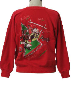 1980's Womens Ugly Not So Christmas-y Sweatshirt