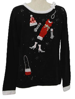 1990's Womens Fashionista Ugly Christmas Sweater