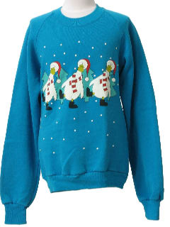 1990's Womens/Girls Ugly Christmas Sweatshirt
