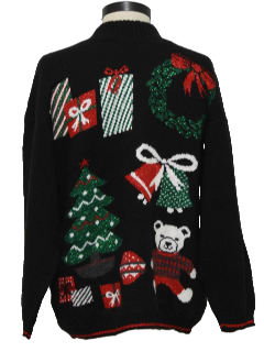 1980's Unisex Vintage Bear-ific Ugly Christmas Sweater